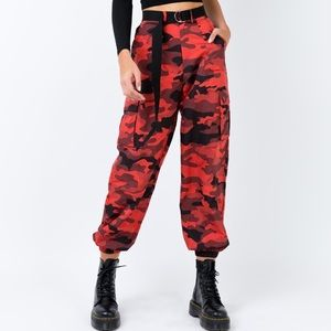 I.AM.GIA Pit Viper Red Camo Pants - Size XS ❤️🖤